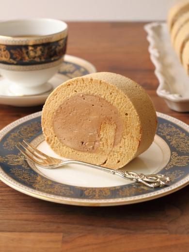 紅茶ゼリー香る♪チョコムースのロールケーキ