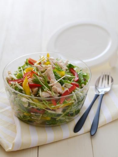 ササミと水菜の塩麹マリネ