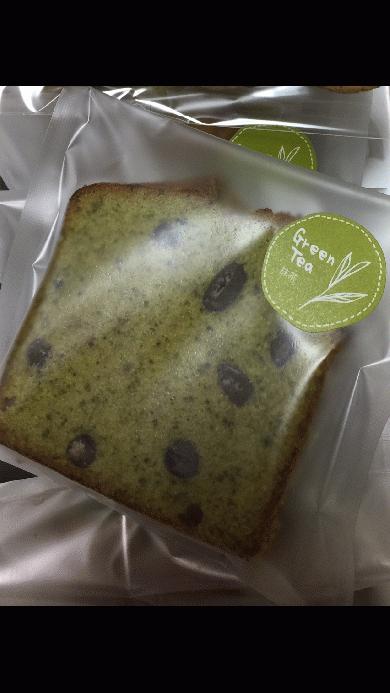 抹茶パウンドの包装