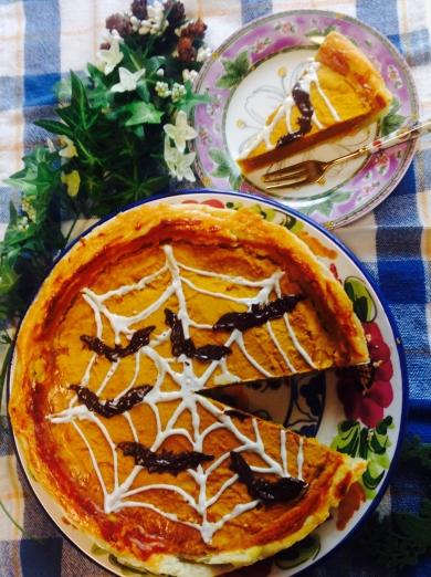 シナモン風味のハロウィンかぼちゃパイ