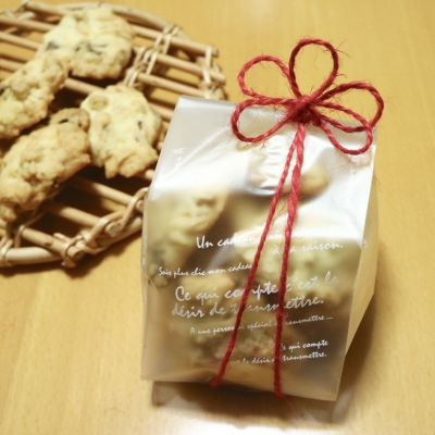 ドロップクッキーのシンプルラッピング