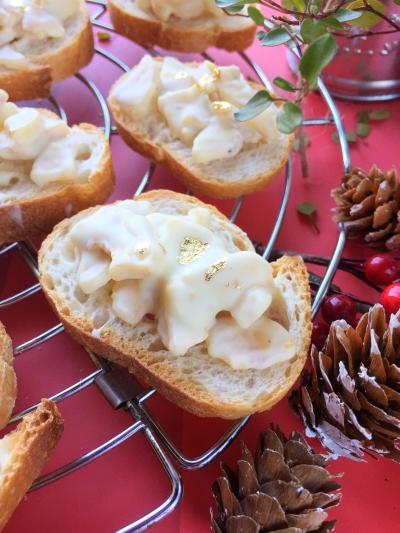 クリスマスのプチお菓子☆材料3つ!チョコバナナラスク