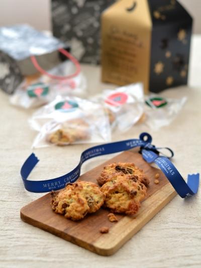 スイーツ粉のドライフルーツロッククッキー