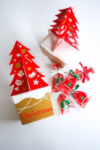 oppパックを使ったクリスマスクッキーラッピング