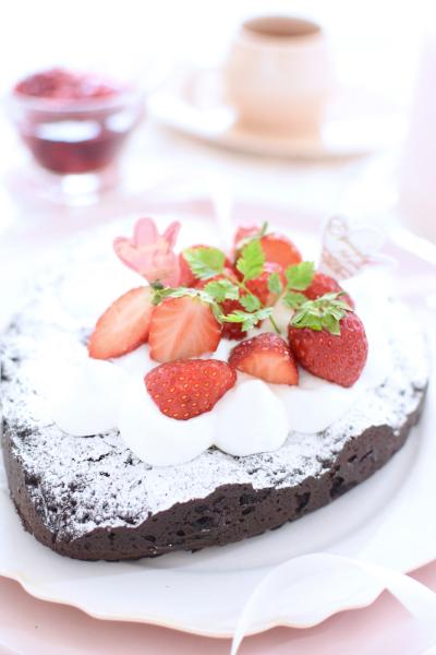 糖質オフ&グルテンフリーのチョコレートケーキ