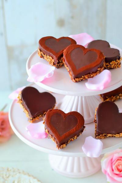 ハートのチョコガナッシュケーキ
