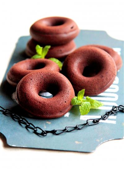 ♡しっとり濃厚♡チョコ焼きドーナツ♡