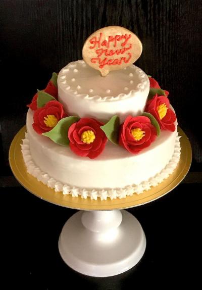 椿のケーキ