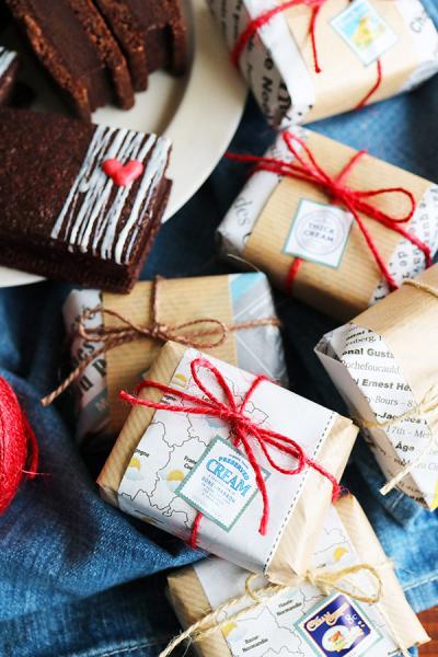 生チョコサンドクッキーのラッピング