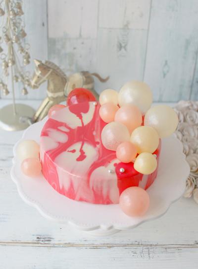 ミラーケーキとゼラチンバブル
