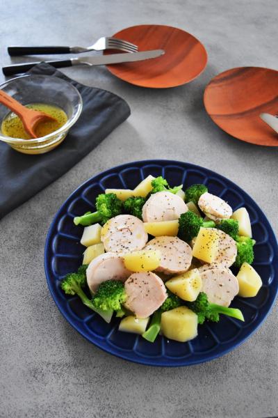 【サーモス×保温調理】しっとり♩鶏ハムのホットサラダ
