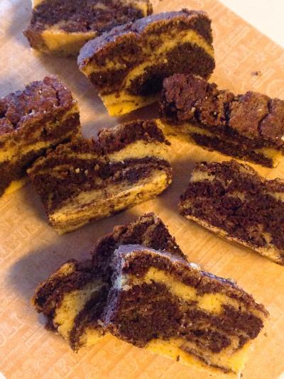 超低糖質*ココアマーブルパウンドケーキ