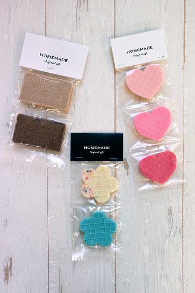 クッキーチョコの3連ラッピング