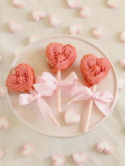 * バレンタイン ♡ 苺ミルククッキー♪