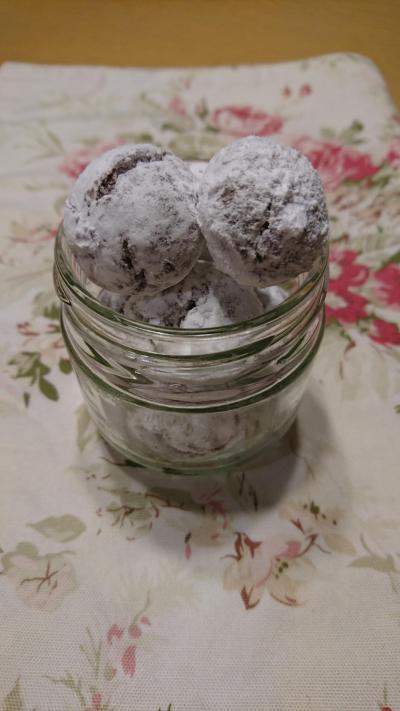 ココアスノーボールクッキー