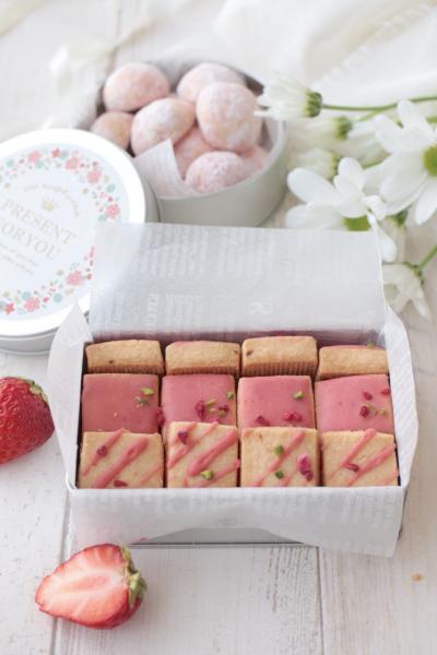 2種類作れる♪ グルテンフリー苺の米粉クッキーのラッピング