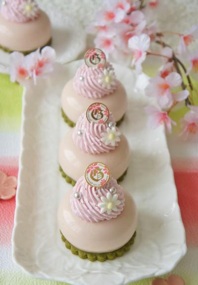 春色♪桜とマスカルポーネのプティガトー
