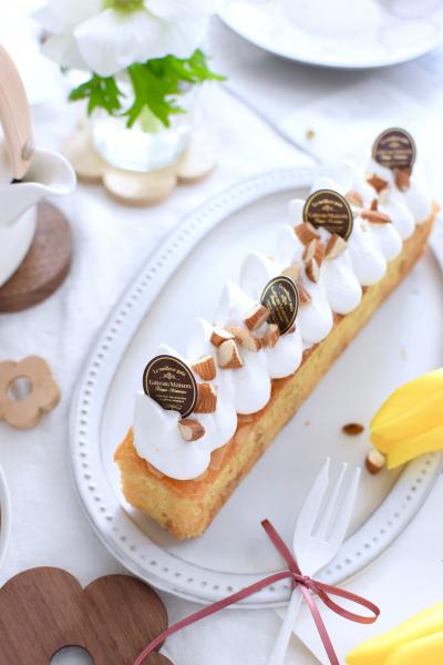 アーモンドミルクのバナナケーキ