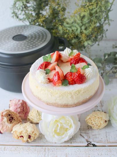 cottaオリジナル無水調理鍋で作るレアベイクドチーズケーキ