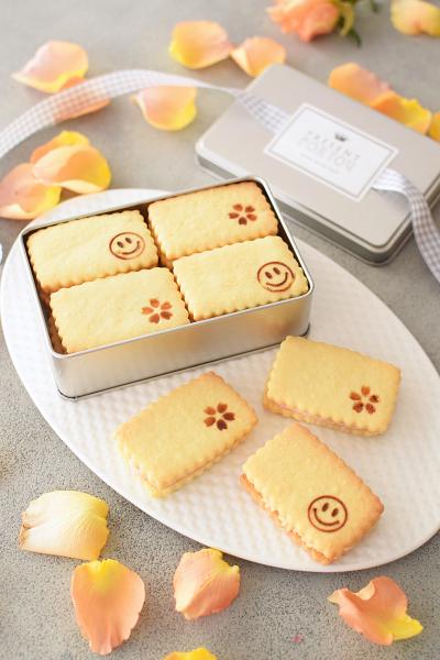 焼きごてスタンプ★バターサンドクッキー(桜&キャラメル)