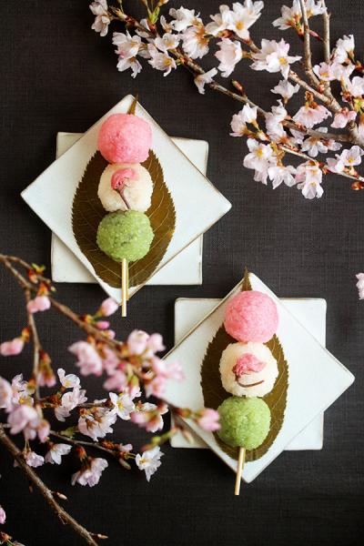 三色団子風桜餅