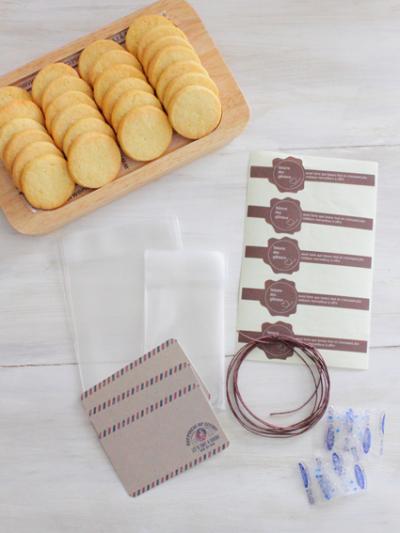 メッセージカードを添えたクッキーの簡単ラッピング