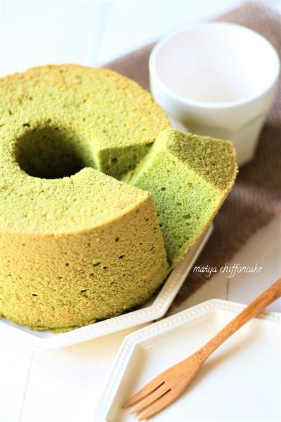 ふわふわ抹茶シフォンケーキ