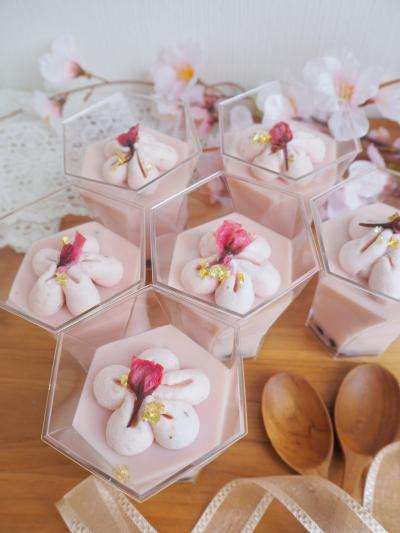 春爛漫♡桜のパンナコッタ