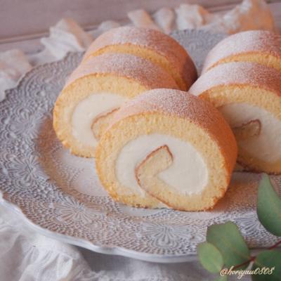 絶品♡ふんわりしっとり共立てロールケーキ♡