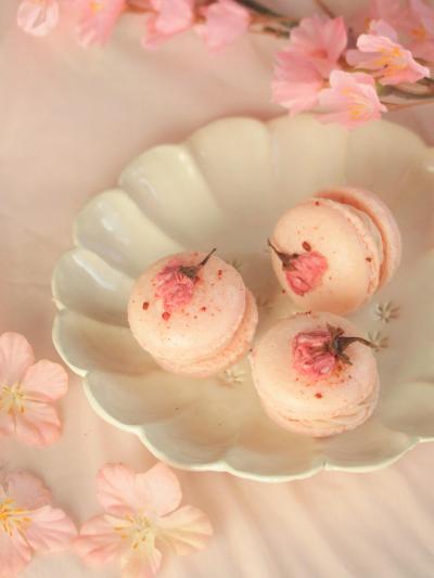 * 春を愛でる ♡ 桜マカロン♪