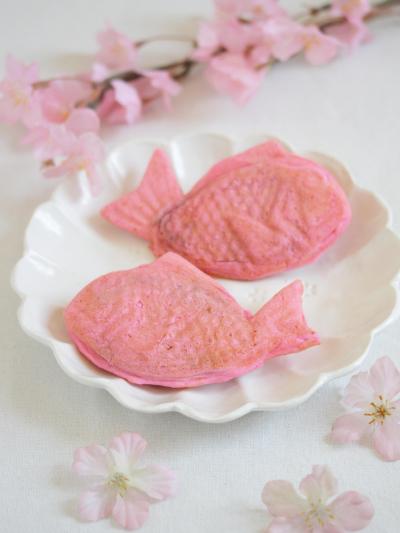 * 桜咲く ♡ 桜ピンクの桜たい焼き♪
