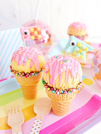 こどもの日に♪アイスクリームカップケーキ♡