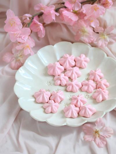 * サクしゅわ * 桜メレンゲクッキー♪