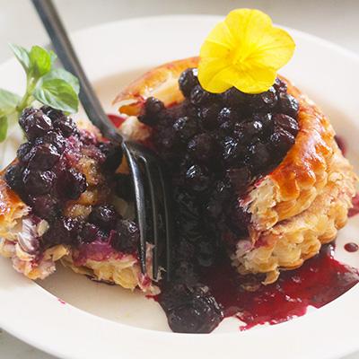ワイルドブルーベリーのパイ