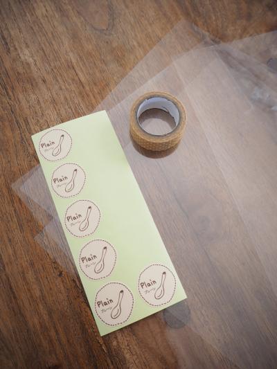 シフォンケーキのワンカット ラッピング