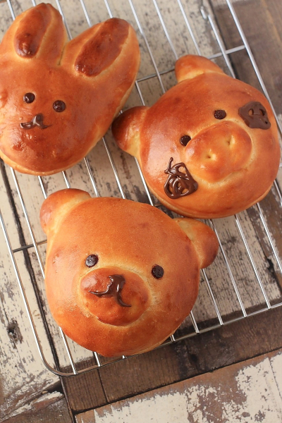 くまさんの♪動物パン。