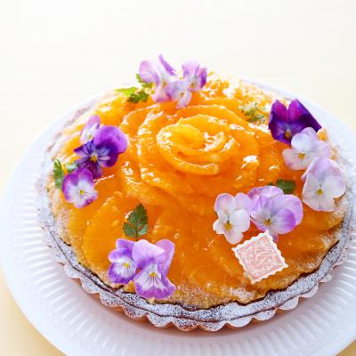 オレンジづくしのマスカルポーネタルト