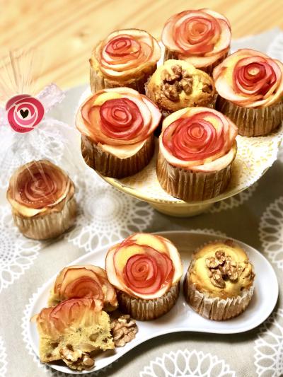 りんごのバラのカップケーキ☆
