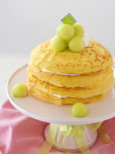 メロンのクレープケーキ
