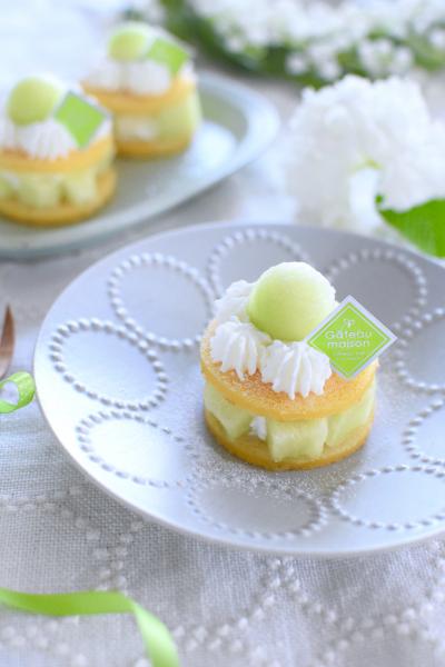 メロンのミニケーキ