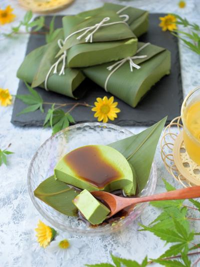 もっちり★ごま豆腐風 抹茶プリン