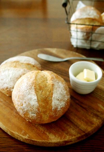 ふわもち・・ポテトライ麦パン♪