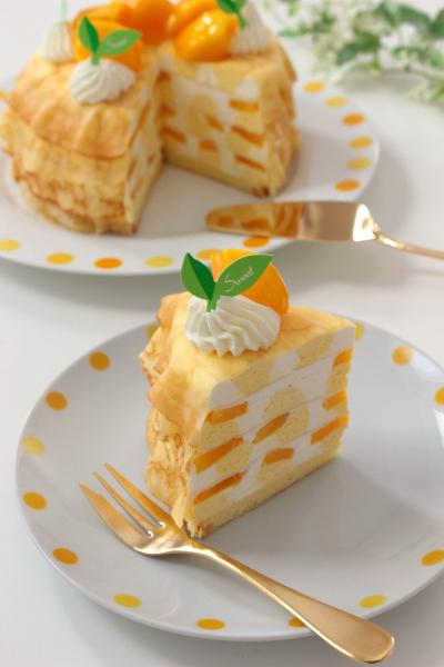 マンゴーのレアチーズミルクレープ