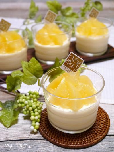 桃の缶詰でお手軽☆本格桃づくしムース
