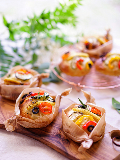 夏野菜のポテトフォカッチャ