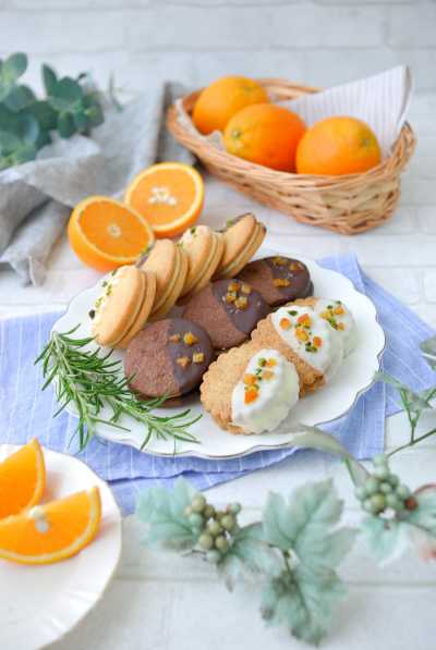 オレンジクリームのクッキーサンド