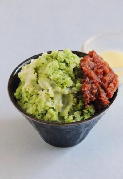 ふわふわ抹茶ミルクかき氷~台湾風~