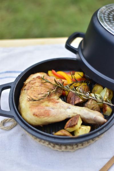 無水調理鍋で作るローストチキン