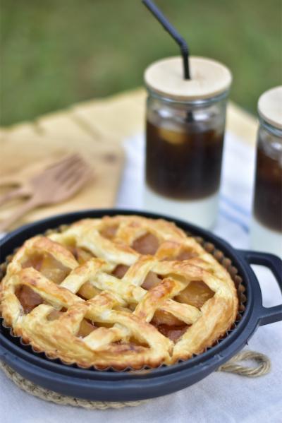 無水鍋で作るアップルパイ