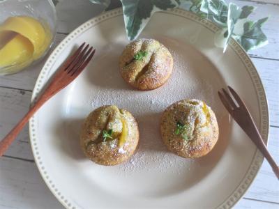 マンゴーとアールグレイ茶葉のケーキ